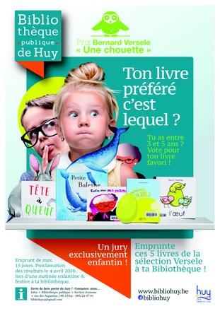 "Bibliothèque - Vote Prix Versele "" Une chouette """