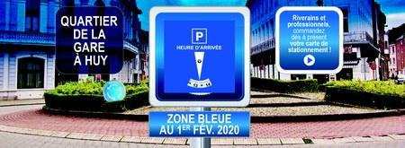 Carte de stationnement quartier de la gare de Huy