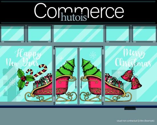 Commerçants décorons vos vitrines