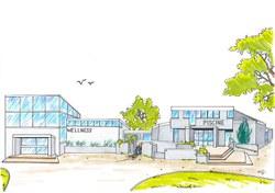 Piscine de Huy   projet d'extension   Vue en élévation