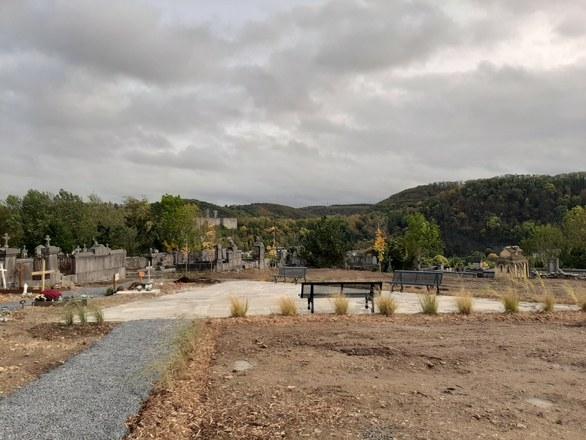 Fin de la première phase des travaux du cimetière de la Buissière