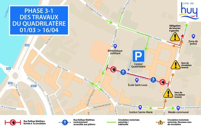 Revitalisation du quartier du Quadrilatère: mesures