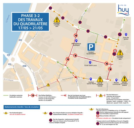 Revitalisation quartier Quadrilatère : nouvelles mesures dès ce 17 mai