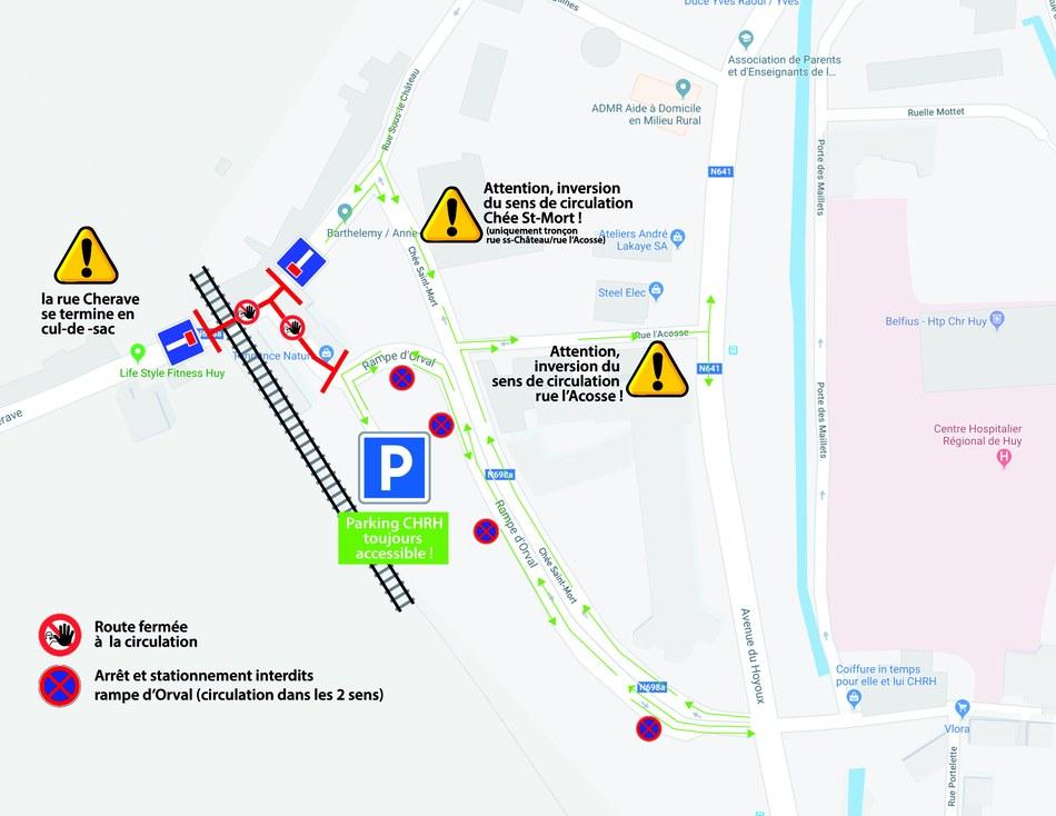 Rampe d'Orval plan travaux septembre 2019